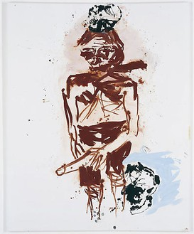 Georg Baselitz, Brauner (Remix) (Brown One[Remix]), 2008 Oil on canvas, 98 ⅜ × 78 11/16 inches (250 × 200 cm)