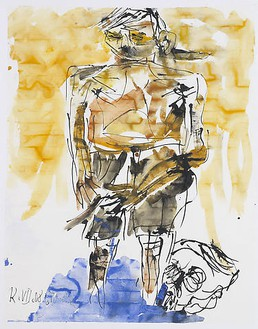 Georg Baselitz, Untitled (12.07.2008), 2008 India ink and watercolor on paper, 26 × 20 ⅛ inches (66 × 51 cm)