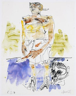 Georg Baselitz, Untitled (08.07.2008), 2008 India ink and watercolor on paper, 26 × 20 ⅛ inches (66 × 51 cm)