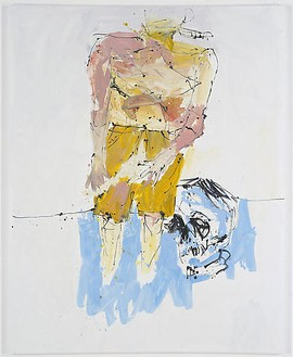 Georg Baselitz, Große Nacht (Remix) IV (Big Night [Remix] IV), 2008 Oil on canvas, 98 ⅜ × 78 11/16 inches (250 × 200 cm)