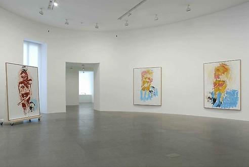 Georg Baselitz: La Grande Notte in Bianco Installation view, photo by Luigi Filetici