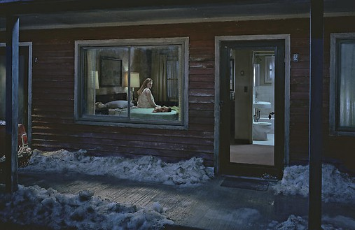 Gregory Crewdson, Untitled, winter 2007 Digital pigment print, framed: 58 ½ × 89 ½ inches (148.6 × 227.3 cm), edition of 6© Gregory Crewdson