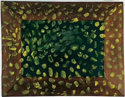 Howard Hodgkin, Garden, 2005–08 Oil on wood, 56 ¾ × 72 ½ inches (144.1 × 184.2 cm)