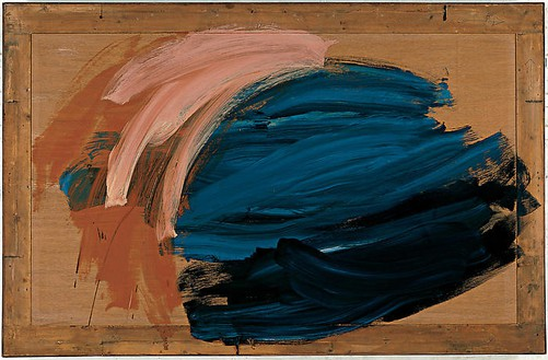 Howard Hodgkin, Ozone, 2004–07 Oil on wood, 49 ⅛ × 75 3/16 inches (124.8 × 191.1 cm)