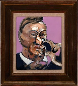Francis Bacon, Study of Gerard Schürmann, 1969 Oil on canvas, 13 ⅝ × 11 ⅝ inches (34.6 × 29.5 cm)© 2008 The Estate of Francis Bacon