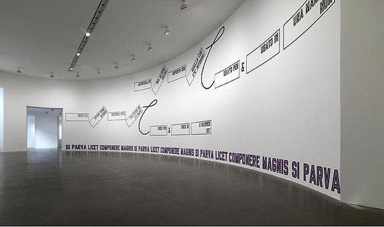 Lawrence Weiner: Quid Pro Quo Installation view, photo by Matteo Piazza