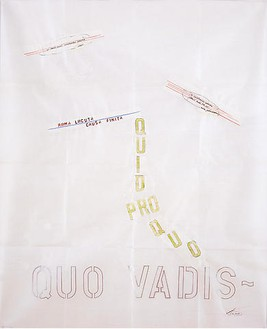 Lawrence Weiner, 3 Coins & a Fountain, 2008 Mixed media on paper, 32 × 40 inches (81.3 × 101.6 cm)