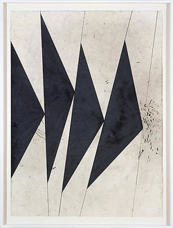 Mark Grotjahn, Untitled (Dancing Black Butterflies), 2007 Color pencil on paper, 9 parts, ranging from: 65 ¾ × 47 ¾ inches (166 × 122 cm) to 72 × 48 inches (182 × 122 cm)