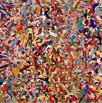 Alighiero E Boetti, Tutto, 1987 Embroidery on canvas, 51 × 50 ¾ inches (129.5 × 128.9 cm)