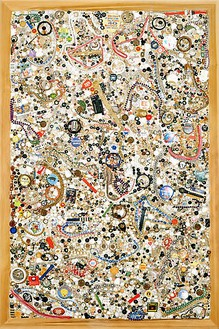 Mike Kelley, Memory Ware Flat #26, 2001 Mixed media on wood panel, 70 ¼ × 46 ½ inches (178.4 × 118.1 × 10.2 cm)