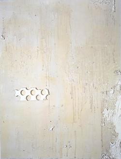 Rudolf Stingel, Untitled (sei), 2003 Styrofoam & silicon on canvas, 78 × 53 inches (198.1 × 134.6 cm)