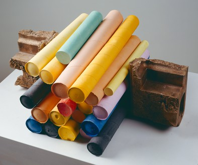 Rachel Whiteread, JUGGLE II, 2008 Plaster, pigment, and bronze, 9 ¾ × 21 ¼ × 17 ½ inches (24.5 × 54 × 44.5 cm)© Rachel Whiteread