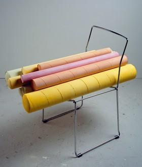 Rachel Whiteread, DRILL, 2008 Plaster, pigment, steel, and rubber, 29 ¾ × 21 ¾ × 39 ⅜ inches (75.5 × 55 × 100 cm)© Rachel Whiteread