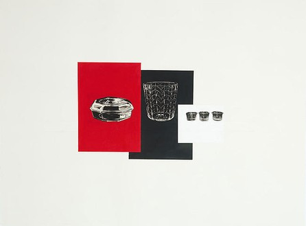 Rachel Whiteread, RED, BLACK, WHITE, 2008 Gouache, pencil and collage on paper, 22 ⅜ × 29 ⅞ inches (57 × 76 cm)