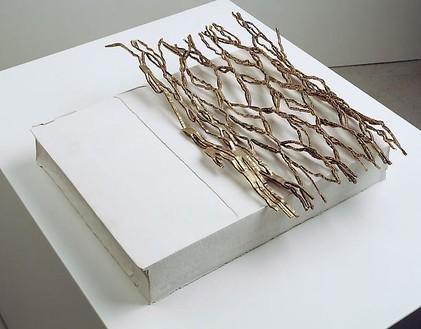 Rachel Whiteread, WEB, 2008 Plaster and bronze, 3 ¾ × 15 × 16 ¼ inches (9.5 × 38 × 41.5 cm)