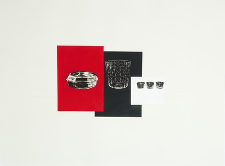 Rachel Whiteread, RED, BLACK, WHITE, 2008 Gouache, pencil, and collage on paper, 22 ⅜ × 29 ⅞ inches (57 × 76 cm)© Rachel Whiteread