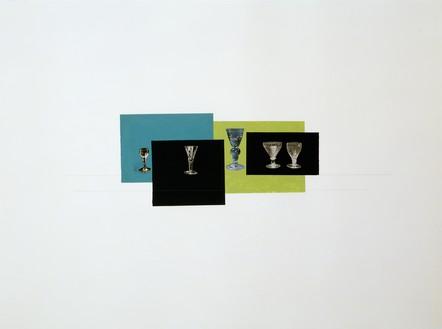 Rachel Whiteread, BLUE, BLACK, GREEN, BLACK, 2008 Gouache, pencil, and collage on paper, 22 ⅜ × 29 ⅞ inches (57 × 76 cm)© Rachel Whiteread