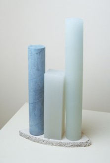 Rachel Whiteread, Untitled (Blue), 2008 Plaster, pigment, resin, and patinated bronze, 22 ½ × 13 ¾ × 5 ¼ inches (57 × 34.5 × 13 cm)© Rachel Whiteread