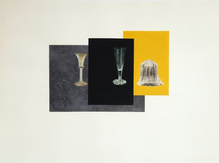 Rachel Whiteread, METALLIC, BLACK, YELLOW, 2008 Gouache, pencil, and collage on paper, 22 ⅜ × 29 ⅞ inches (57 × 76 cm)© Rachel Whiteread