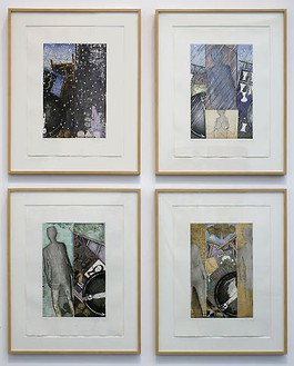 Jasper Johns, The Seasons, 1987 Color etching and aquatints, 19 ⅜ × 12-13/16 inches (49.3 × 32.5 cm)