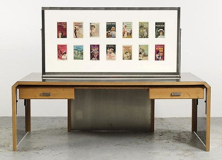 Richard Prince, Untitled (Original), 2008 Furniture and double sided frame, 82 × 29 × 65 ½ inches (208.3 × 73.7 × 166.4 cm)