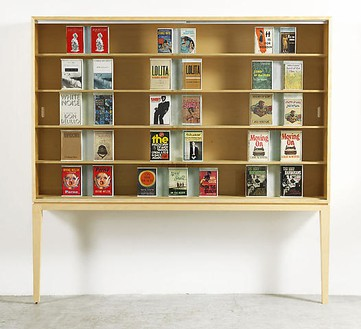 Richard Prince, Untitled (Original), 2008 Furniture, books, sintra and bondo, 85 × 88 ¼ × 13 ¼ inches (216 × 224 × 33.5 cm)