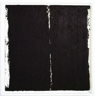 Richard Serra, Tracks #51, 2008 Paintstick on handmade paper, 40 × 40 inches (101.6 × 101.6 cm)