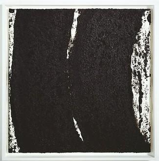Richard Serra, Tracks #52, 2008 Paintstick on handmade paper, 40 × 40 inches (101.6 × 101.6 cm)