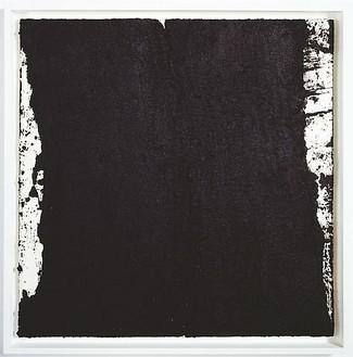 Richard Serra, Tracks #45, 2008 Paintstick on handmade paper, 40 × 40 inches (101.6 × 101.6 cm)