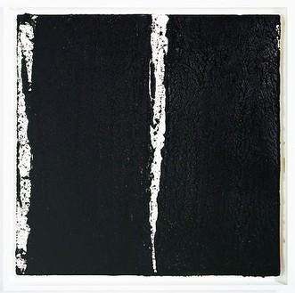 Richard Serra, Tracks #41, 2008 Paintstick on handmade paper, 40 × 40 inches (101.6 × 101.6 cm)