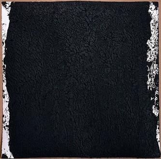 Richard Serra, Solid #7, 2007 Paintstick on handmade paper, 40 × 40 inches (101.6 × 101.6 cm)© Richard Serra