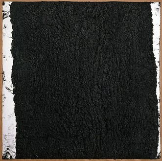 Richard Serra, Solid #27, 2008 Paintstick on handmade paper, 40 × 40 inches (101.6 × 101.6 cm)© Richard Serra