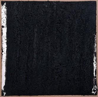 Richard Serra, Solid #3, 2007 Paintstick on handmade paper, 40 × 40 inches (101.6 × 101.6 cm)© Richard Serra