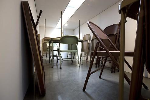 Robert Therrien Installation view, photo by Robert McKeever
