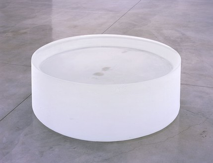 Roni Horn, Opposite of White, v. 1 (Large) (B), 2006 Solid cast COLORLESS glass (N-BK7), with as-cast surfaces on all sides (Fire-polished top), 20 × 56 × 56 inches (50.8 × 142.2 × 142.2 cm)Photo by Douglas M. Parker Studio