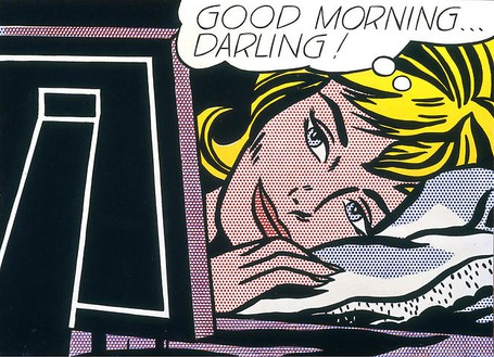 Roy Lichtenstein, Good Morning...Darling!, 1964 Oil and Magna on canvas, 27 × 36 inches (68.6 × 91.4 cm)© Estate of Roy Lichtenstein