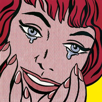 Roy Lichtenstein, Happy Tears, 1964 Oil and Magna on canvas, 38 × 38 inches (97 × 97 cm)