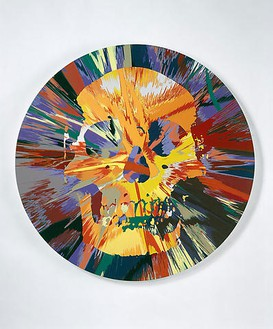 Damien Hirst, Beautiful Persephone Psychdelia Painting, 2008 Household gloss paint on canvas, 72 inches diameter (182.9 cm)