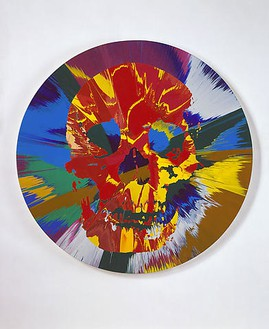 Damien Hirst, Beautiful Hermes Amnesia Painting, 2008 Household gloss paint on canvas, 72 inches diameter (182.9 cm)