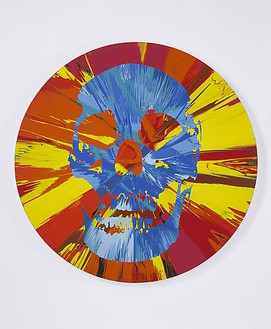 Damien Hirst, Beautiful Faunus Prophecy Painting, 2008 Household gloss on canvas, 72 inches diameter (182.9 cm)