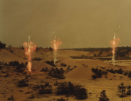 Taryn Simon, Fireworks by Grucci, Northern Test Site, Corporate Headquarters, Brookhaven, New York, 2006–07, from the series An American Index of the Hidden and Unfamiliar, 2007 Chromogenic print, framed: 37 ¼ × 44 ½ inches (94.6 × 113 cm), edition of 7 + 2 AP© Taryn Simon