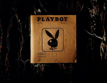 Taryn Simon, Playboy, Braille Edition, Playboy Enterprises, Inc. New York, New York, 2006–07, from the series An American Index of the Hidden and Unfamiliar, 2007 Chromogenic print, framed: 37 ¼ × 44 ½ inches (94.6 × 113 cm), edition of 7 + 2 AP© Taryn Simon