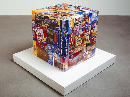 Tom Friedman, Care Package (Manipulated), 2008 Ink jet photos, 22 ½ × 22 × 22 inches (57.2 × 55.9 × 55.9 cm), edition of 2 / 1 AP