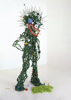 Tom Friedman, Green Demon, 2008 Expanding insulation foam and mixed media, 91 × 43 × 36 inches (231.1 × 109.2 × 91.4 cm)