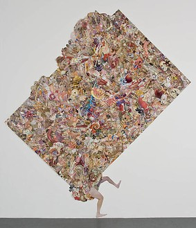Tom Friedman, Monster Collage, 2007 Collage with artist's hair, 136 × 120 inches (345.4 × 304.8 cm)