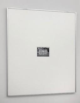 Shannon Ebner, Shrouded Monument, 2008 Chromogenic print, 40 ½ × 48 ½ inches (102.9 × 123.2 cm), edition of 4