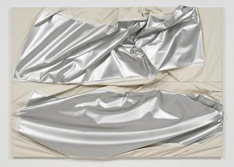 Steven Parrino, Universal Mafia, 1992 Enamel on canvas, 72 × 103 inches (182.9 × 261.6 cm)