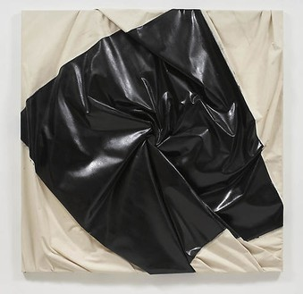 Steven Parrino, Peel Out, 2000 Enamel on canvas, 72 ½ × 72 ½ × 5 inches (184.2 × 184.2 × 12.7 cm)