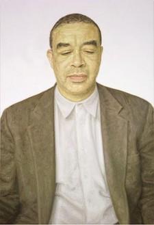 Y. Z. Kami, Untitled (Acharya), 2007 Oil on linen, 140 × 70 inches (355.6 × 177.8 cm)