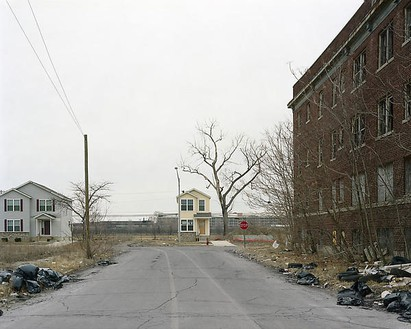 Alec Soth, Detroit, Michigan (Small house at the end of road), 2008 Chromogenic print, Image: 24 × 30 inches (60.9 × 76.2 cm), edition of 8